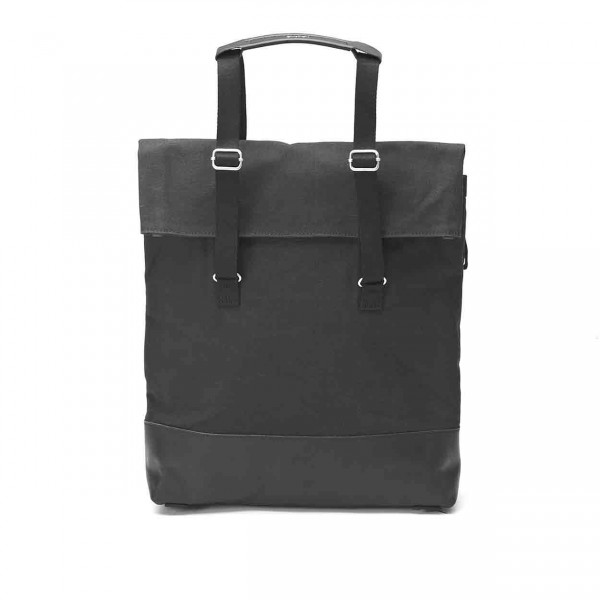Qwstion Daytote Tasche black leather canvas Ansicht 1