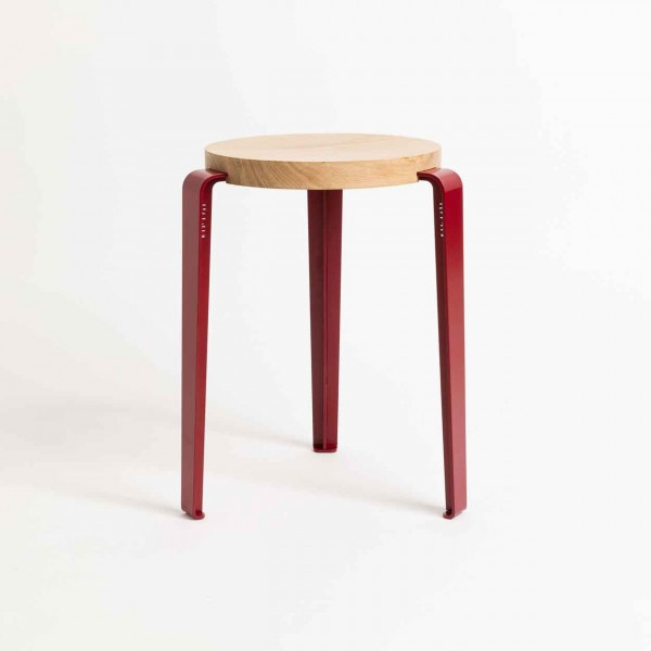 TIPTOE LOU Stool crimson red Ansicht 1
