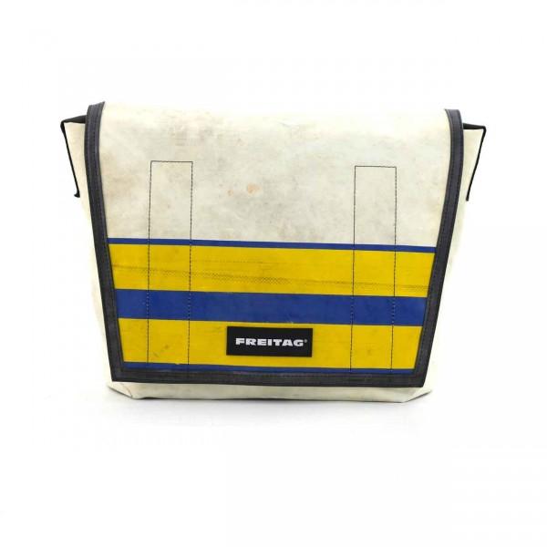 FREITAG Tasche Dragnet F12 Weiß & Gelb Ansicht 1