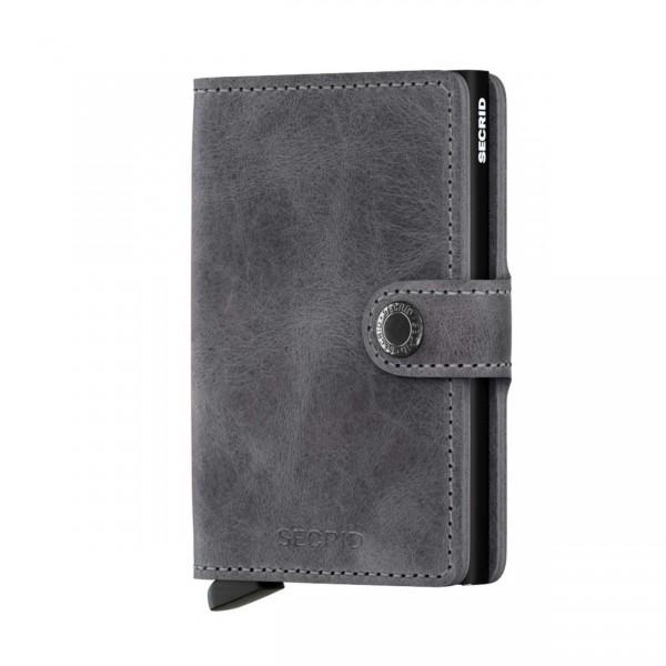 Secrid Miniwallet Sicherheitskartenetui vintage grey black
