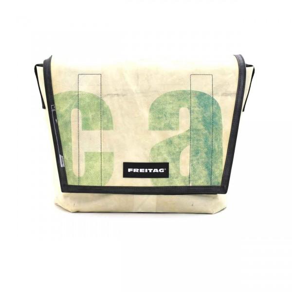 FREITAG Tasche F12 Dragnet Weiß & Grün Ansicht 1