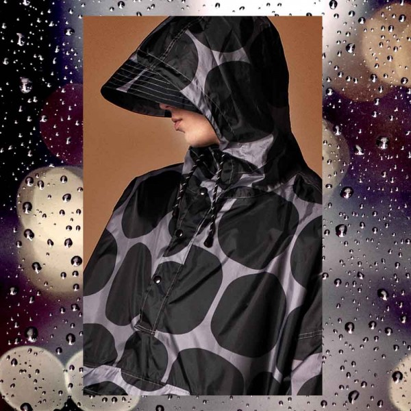 Rainkiss Black Polka Poncho