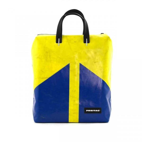 FREITAG Rucksack F201 Pete blau & gelb Ansicht 1