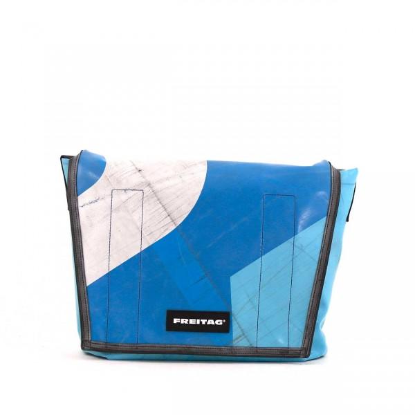 FREITAG Tasche F12 Dragnet Blau & Weiß Ansicht 1