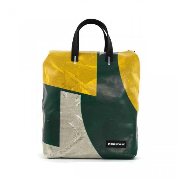 FREITAG Rucksack F201 Pete weiß, grün & gelb Ansicht 1
