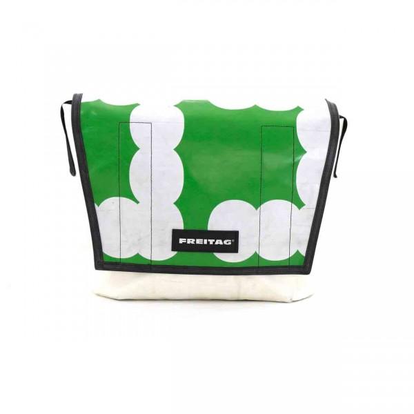 FREITAG Tasche F14 Dexter grün & weiß Ansicht 1