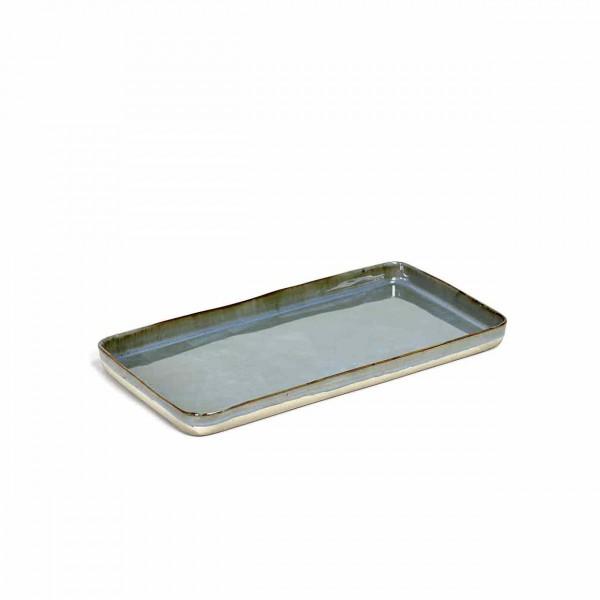 Serax Plate large rechteckig smoky blue