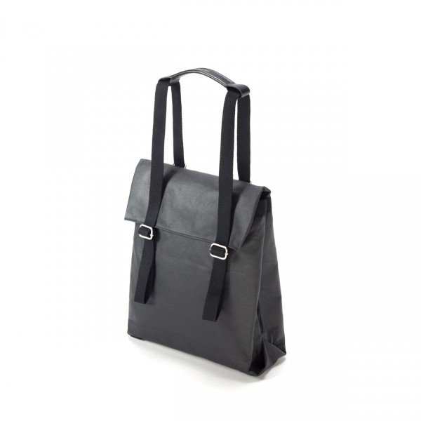 Qwstion Small Tote Rucksack Organic Jet Black Ansicht 1