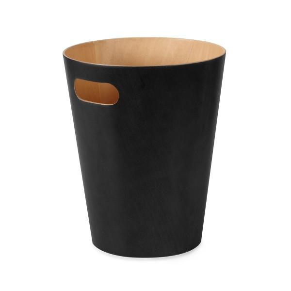 Umbra Woodrow Papierkorb schwarz
