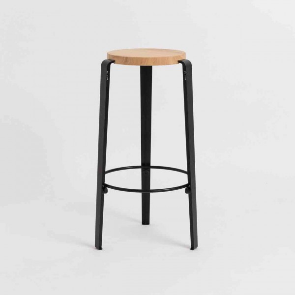 TIPTOE BIG LOU Bar Stool graphite black Ansicht 1
