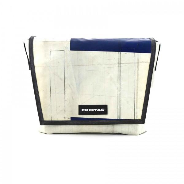 FREITAG Tasche Dragnet F12 Weiß & Blau Ansicht 1