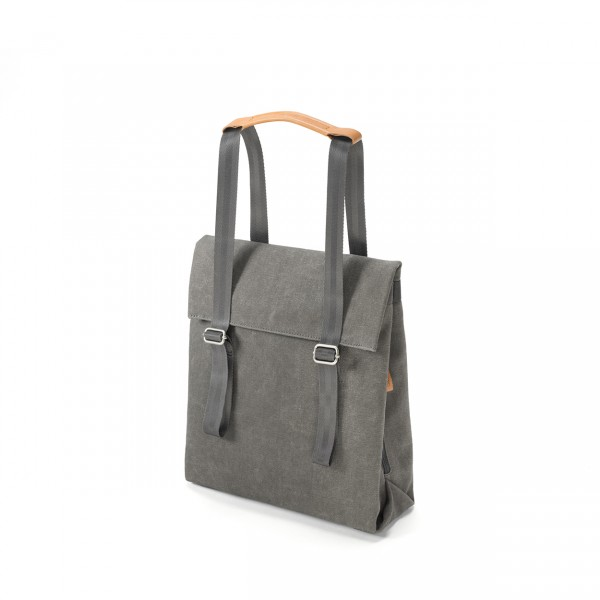 Qwstion Small Tote Rucksack organic washed grey Ansicht 1