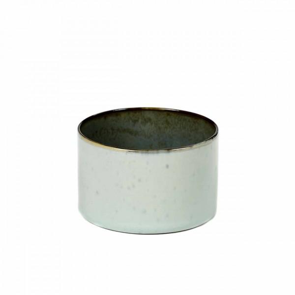 Serax Becher zylinder niedrig D7,5 light blue / smokey