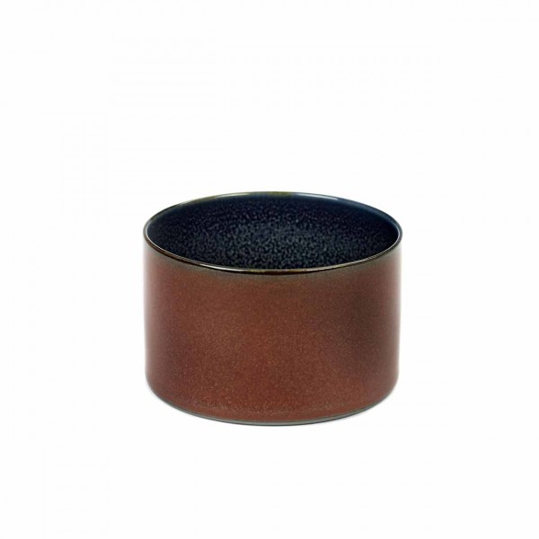 Serax Becher zylinder niedrig D7,5 rust /dark blue