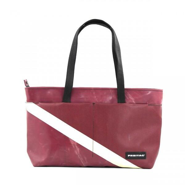 FREITAG Shopper F560 Sterling Rot & Weiß Ansicht 1