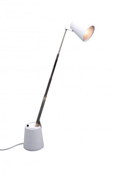 RR Leuchten Lampette Tischleuchte weiß