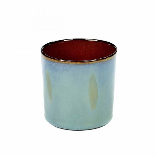 Serax Becher zylinder hoch D7,5 smokey blue / rust