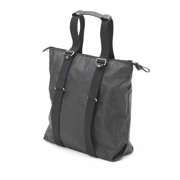 Qwstion Simple Zipshopper organic jet black Tasche Ansicht 3