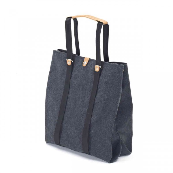 Qwstion Shopper Tasche washed black Ansicht 2