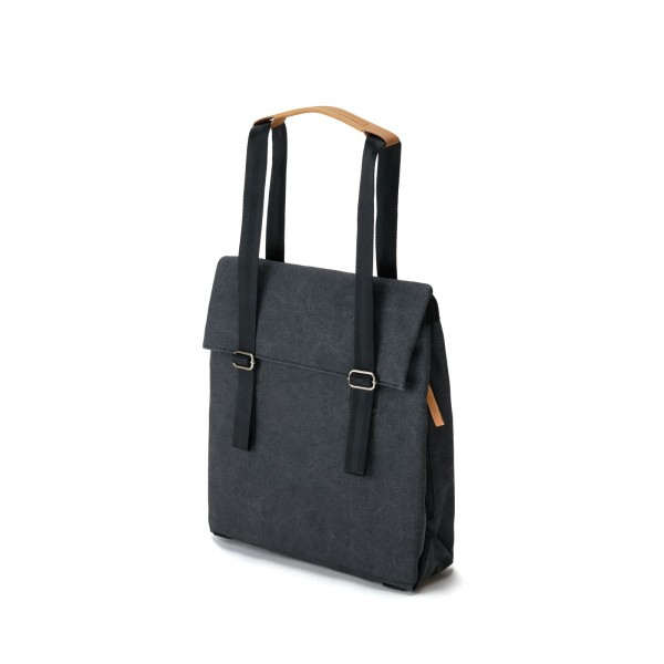 Qwstion Small Tote Rucksack organic washed black Ansicht 1