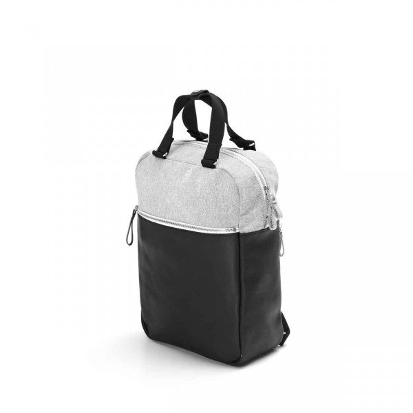Qwstion Small Pack Rucksack Raw Blend Leather Canvas Ansicht 1