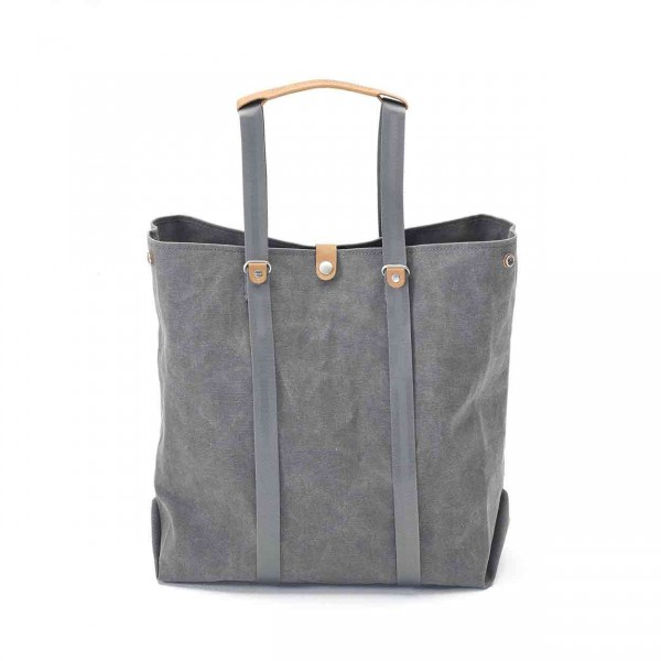 Qwstion Shopper Tasche washed grey Ansicht 2