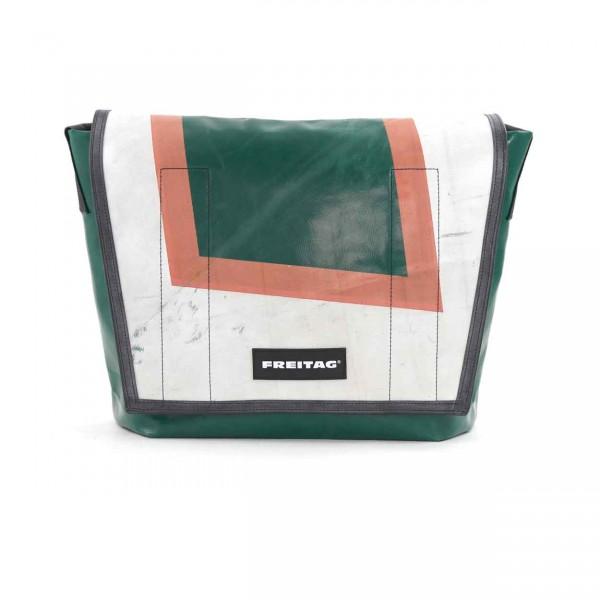 FREITAG Tasche F12 Dragnet 29 Grün, Weiß & Rot Ansicht 1