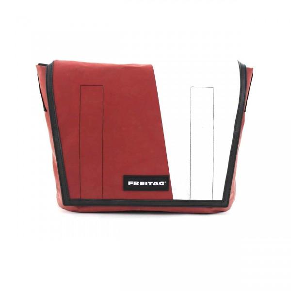 FREITAG Tasche F12 Dragnet 31 Rot & Weiß Ansicht 1