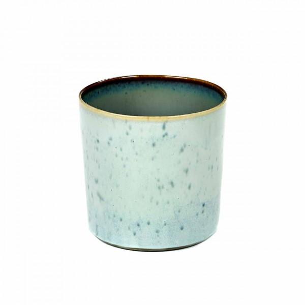 Serax Becher zylinder hoch D7,5 light blue / smokey blue