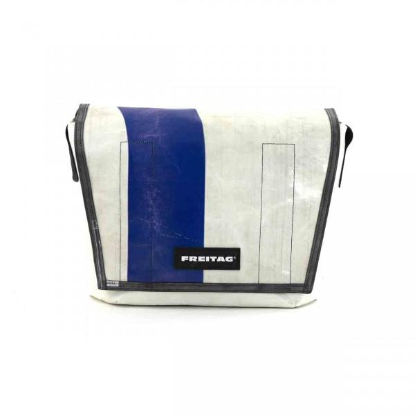 FREITAG Tasche F14 Dexter weiß & blau Ansicht 1