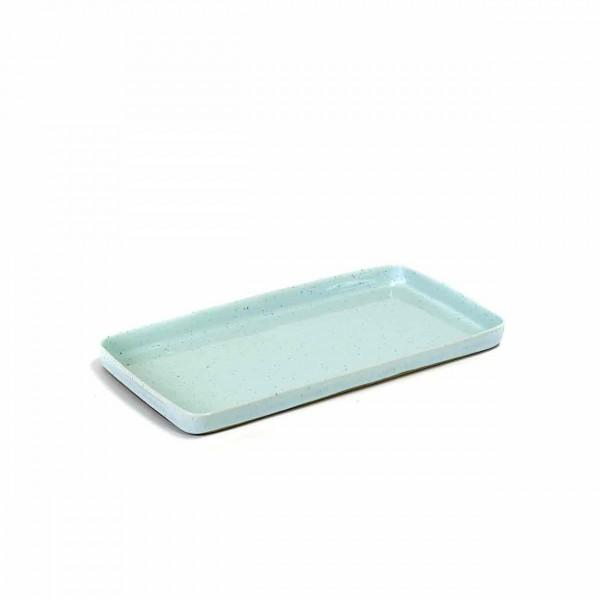 Serax Plate large rechteckig light blue