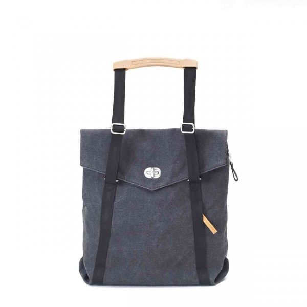 Qwstion Tote Tasche washed black Ansicht 1
