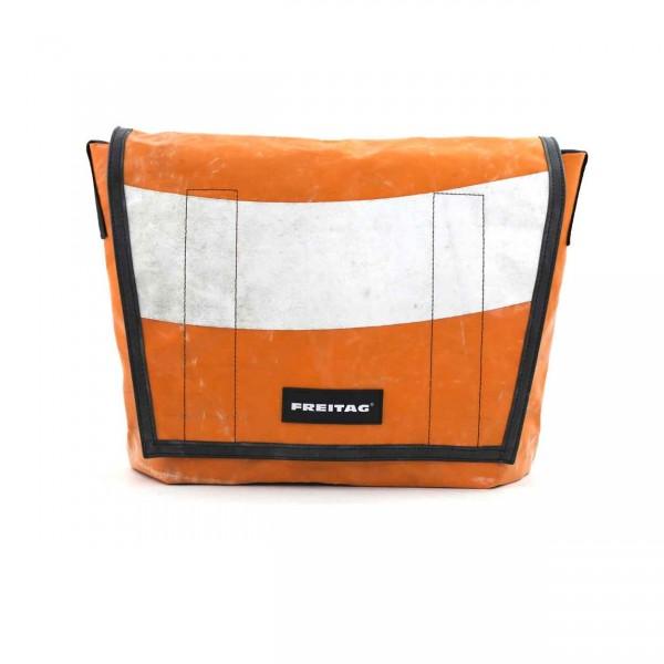 FREITAG Tasche Dragnet F12 Orange & Weiß Ansicht 1