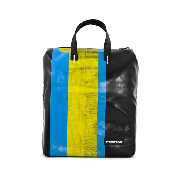 FREITAG Rucksack F201 Pete schwarz, blau & gelb Ansicht 1