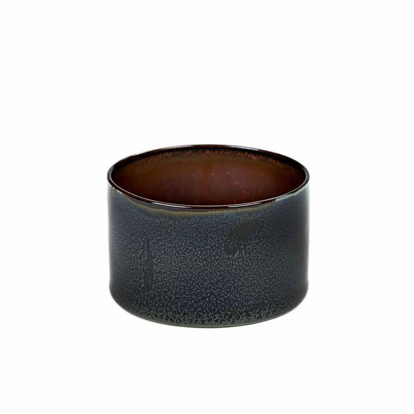 Serax Becher zylinder niedrig D7,5 dark blue / rust
