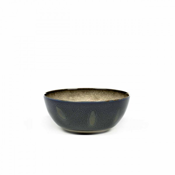 Serax bowl m misty grey / dark blue