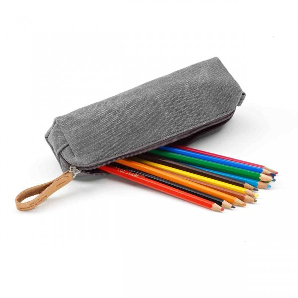 Qwstion Pencil Pouch Federtasche washed grey Ansicht 2
