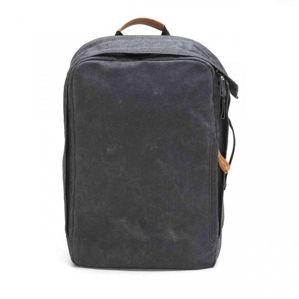 Qwstion Backpack Rucksack washed black Ansicht 1