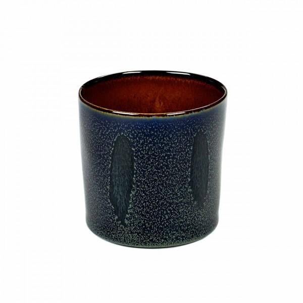 Serax Becher zylinder hoch D7,5 dark blue / rust