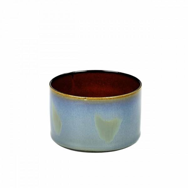 Serax Becher zylinder niedrig D7,5 smokey blue / rust