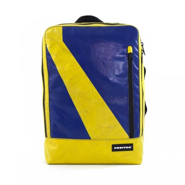 Freitag Rucksack F303 Hazzard gelb & blau Ansicht 1