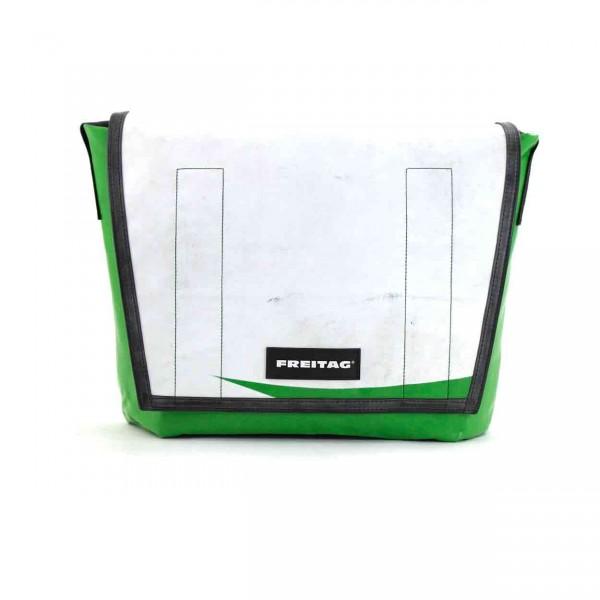 FREITAG Tasche Dragnet F12 Weiß & Grün Ansicht 1