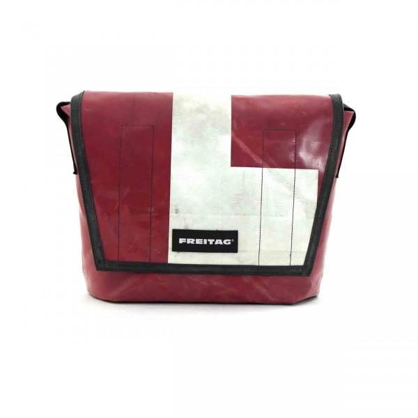 FREITAG Tasche F14 Dexter rot & weiß Ansicht 1