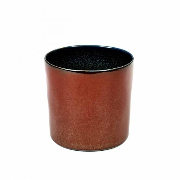 Serax Becher zylinder hoch D7,5 rust / dark blue