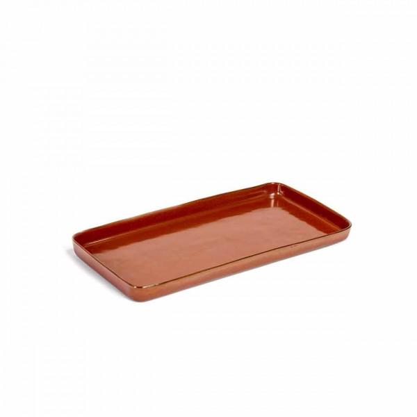 Serax Plate large rechteckig rust