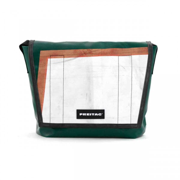 FREITAG Tasche F12 Dragnet grün, weiß & rot Ansicht 1
