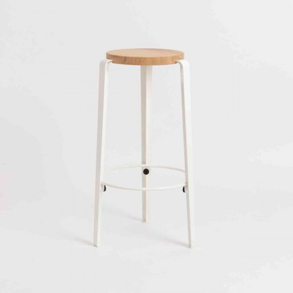 TIPTOE BIG LOU Bar Stool cloudy white Ansicht 1