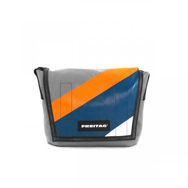 FREITAG Tasche F11 Lassie grau, blau, orange & weiß Ansicht 1