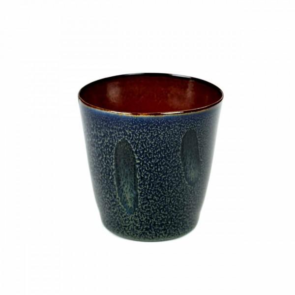 Serax Becher konisch D8,5 dark blue/rust