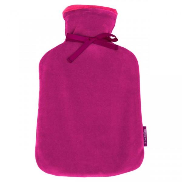 farbenfreunde Wendewärmflasche fuchsia - himbeer